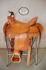 "17"" G.W. CRATE WADE RANCH ROPING SADDLE FREE ROPER TRAIL FREE SHIP HERMAN OAK US"