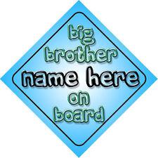 Big Brother On Board Car Window Sign Newborn Gift Boy