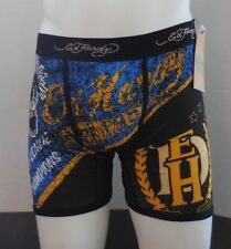 Ed Hardy Men's Panther Pendant Logo Tattoo Vintage Boxer Briefs Black Size M New