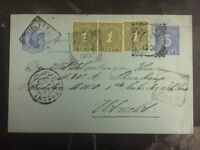 1901 Malang Netherlands Indies Postal Stationary Uprated Cover