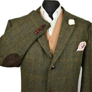 Harris Tweed Tailored Country Checked Blazer Jacket 48R #992 STUNNING GARMENT