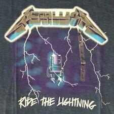 Metallica Men's L T-Shirt Ride The Lightning Licensed Concert Rock Band Retro
