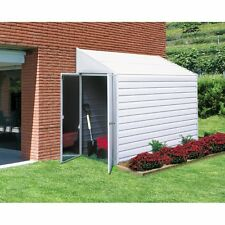 Outdoor Storage Shed Garden Utility Building Angled Metal 4x7 Backyard Tools New