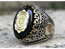 King Solomon's Seal, 925 Sterling Silver Handmade Ring, Suleimans seal, Talisman