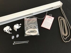 Roman Blind Track Size 50cm to 190cm. Quick release chrome chain for safety