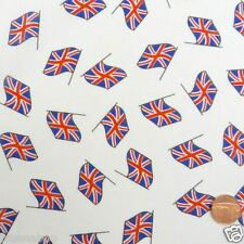 "Half x metre white union jack fabric flags fabric 100% cotton 45"""