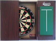 Winmau Blade 5 FIVE Dart Board & Formula Mahogany Cabinet + 6 x Darts Gift SET