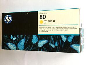 HP Designjet Druckkopf +Reiniger yellow gelb C4823A HP 80 zu 1050C u. Plus