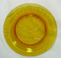 Vintage Ash Tray Amber Glass United States of America Eagle w/ 7 Stars Patriotic