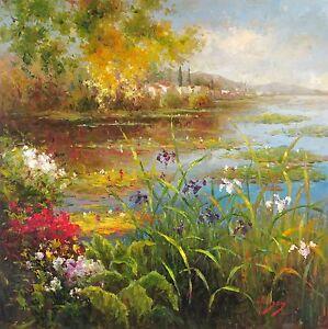 "Hulsey, ""Village Pond"", Image Size: 18""h x 18""w, Digital print"