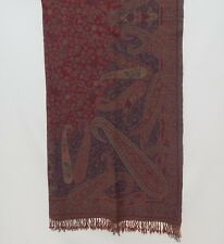 Yak/Sheep Boiled Wool Blend|Banket/Throw|Handcrafted|India|Dark Red & Plum