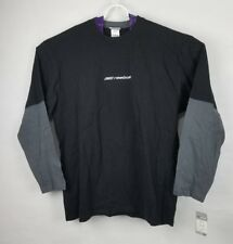 Nwt Reebok Mens Black/Gray Long Sleeve. Size Xl. 100% Cotton.