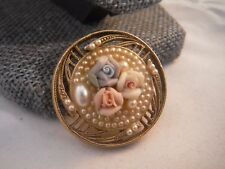 Vintage Pin Brooch 1928 BRAND FLORAL MINT CON Costume Jewelry Heaven Box C