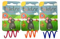 Twizlrz® Durable Colour Bouncing Interactive Pink, Orange, Blue Cat Toy Toys