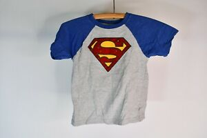 Superman Multicolor Short Sleeve Shirt Size 5 Toddler 93% Cotton 7% Polyester