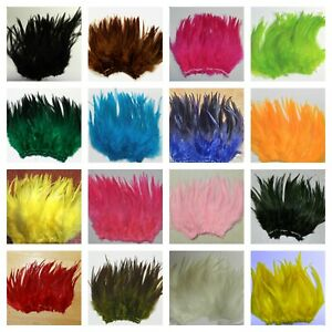 """Nimrod's Tackle 1/4 oz SADDLE HACKLE FEATHERS FLY TYING MATERIAL 5-7"""" Pick color"""