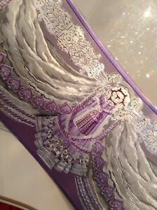 wunderschöne Barock Bordüre Lila.hell.lila.silber5m lang 17,7 cm breit