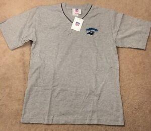NWT Carolina Panthers V-Neck T-Shirt Grey Youth Size 14/16
