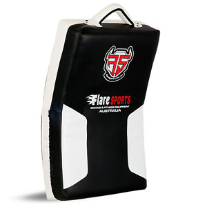 Flare Kick Shield Muay Thai Boxing Arm Pad Focus MMA Punch Target Curved Strike