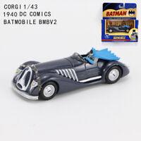 1/43 CORGI DC Comics Batman 1940 Batmobile BMBV2 Diecast Car Model Collectible