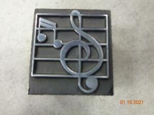 Printing Letterpress Printer Block Antique Music Notes Print Cut