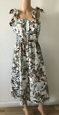 UK 10 Ladies M&S Limited Edition Ivory Mix Floral Holiday Dress BNWT RRP £45