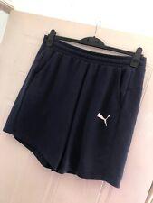 Mens Blue Puma Jersey Shorts Size L