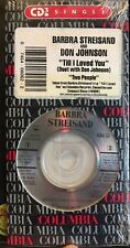 "Barbra Streisand Don Johnson 3"" CD Single Sealed ""Till I Loved You"" 1988"