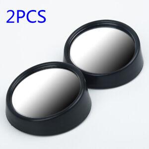Miroir d'angle mort Noir Réglable Convexe Vue arrière 5 Voiture Durable