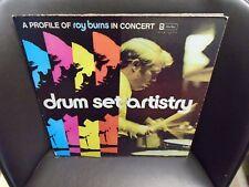 Roy Burns Drum Set Artistry LP Alfred Music private press soul jazz VG+