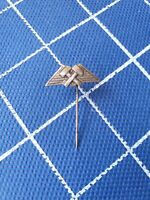 Silver 900 pin badge ansteckandel MINE MINER MINING MINERS