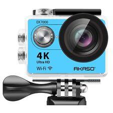 "Refurbished AKASO EK7000 2.0"" 4K WIFI Sports Action Camera DV Camcorder Blue"