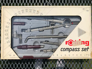 Vintage Rotring- Compass Set - Made In West Germany. 1980s