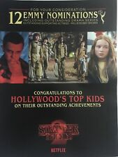 STRANGER THINGS Millie Bobby Brown David Harbour For Your Consideration Emmy Ad