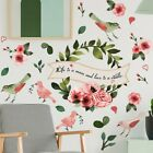 Colorful Floral-plants Flower Bird Leaves Wall Sticker Art Decal Home Decoration