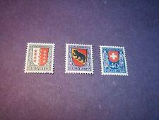 Switzerland Stamp Scott# B18-20 Valais, Bern, Switzerland 1921  MNH  C189