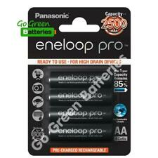 4 x Panasonic Eneloop PRO AA 2500 mAh Rechargeable Batteries Ready To Use