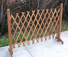 Expandable Indoor Outdoor Wooden Fence Pet Child Gate Instant Fence Path or Door