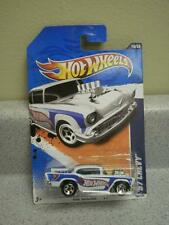 HOT WHEELS-  '57 CHEVY- HW RACING '11- NO.160- NEW ON CARD- L168