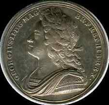 England 1727 George II Coronation medal  silver 34mm