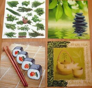 paper napkins, suchi, tea, herbs, massage stones serviette,33cm-2ps,decoupage