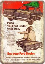 "1969 - Ford Thunderbird Dealer Sales Ad - 10"" x 7"" Retro Look Metal Sign"