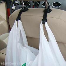 4Pcs Auto Car Trunk Seat Back Hook Shopping Bag Purse Clothes Hanger Holder Kit