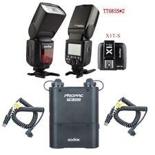 2X Godox TT685S Camera Flash + X1T-S Transmitter + PB960 Power Battery Pack Kit