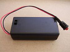 Alarma ficticia luz roja intermitente LED con caja de batería AA