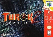 ***TUROK 2 SEEDS OF EVIL N64 NINTENDO 64 GAME COSMETIC WEAR~~~