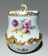 Meissen B-Form Blumenbukett Knaufzeit - Große Bonboniere, Keksdose 18 cm #B135