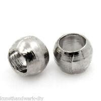 KUS 3000 Silberfarbe Quetschperlen Crimp Perlen Beads 1.5mm