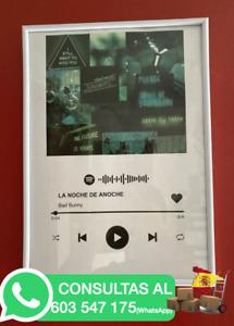 Regalo original - Placa Musical Spotify con canción y foto personalizada
