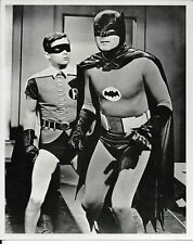 8x10 reprint of black and white tv photo ,batman and robin from 1960s show